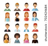 white background with set half... | Shutterstock .eps vector #702424684
