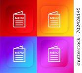 menu four color gradient app...