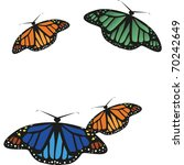 colorful butterfly that flies... | Shutterstock .eps vector #70242649
