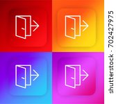 exit four color gradient app...
