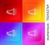 megaphone four color gradient...