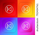 previous four color gradient... | Shutterstock .eps vector #702434761