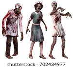 Zombies In Hospital Clothes 3d...