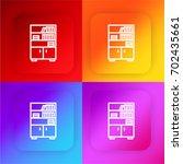 bookshelf four color gradient...