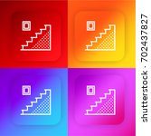 stairs four color gradient app...