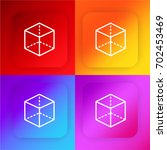 cube four color gradient app...