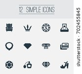 vector illustration set of... | Shutterstock .eps vector #702455845