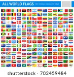 all world flags   vector... | Shutterstock .eps vector #702459484