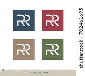 r r letter logo template | Shutterstock .eps vector #702461695