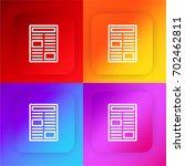 newspaper four color gradient... | Shutterstock .eps vector #702462811