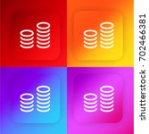 coins four color gradient app...