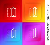 fold four color gradient app...