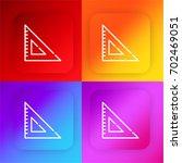 set square four color gradient...
