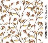 watercolor seamless pattern...   Shutterstock . vector #702469321