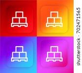 boxes four color gradient app...