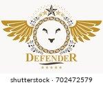 heraldic coat of arms... | Shutterstock . vector #702472579