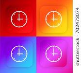 clock four color gradient app...