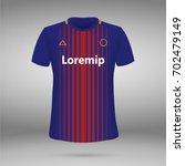 football kit of fc barcelona... | Shutterstock .eps vector #702479149