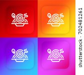 pasta four color gradient app... | Shutterstock .eps vector #702481261