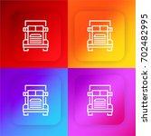 truck four color gradient app...
