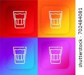 glass four color gradient app...