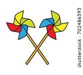 pinwheel windmill propeller | Shutterstock .eps vector #702486595
