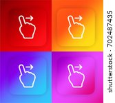swipe right four color gradient ... | Shutterstock .eps vector #702487435