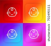 sad baby four color gradient...