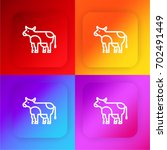 cow four color gradient app...