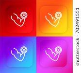 dumbbell four color gradient...
