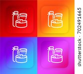 milk products four color... | Shutterstock .eps vector #702491665