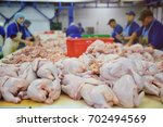 the poultry processing in food...   Shutterstock . vector #702494569