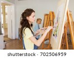 art school  creativity and... | Shutterstock . vector #702506959