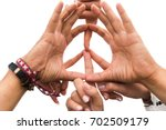 youth culture  gesture and... | Shutterstock . vector #702509179