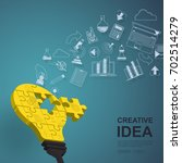 idea concept for innovation and ...   Shutterstock .eps vector #702514279