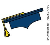 graduation hat isolated icon | Shutterstock .eps vector #702527797