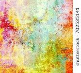 colorful scratched vintage... | Shutterstock . vector #702535141