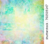 colorful scratched vintage... | Shutterstock . vector #702535147
