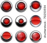 red high detailed buttons in...   Shutterstock .eps vector #70253554