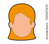 avatar woman icon | Shutterstock .eps vector #702537619