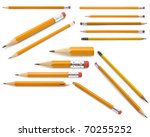 pencils collection | Shutterstock . vector #70255252