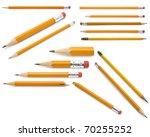 pencils collection | Shutterstock . vector #70255252