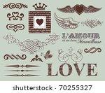 design elements   st. valentine'... | Shutterstock .eps vector #70255327