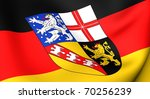 Flag of Saarland, Germany. Close up. - stock photo