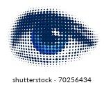 blue eye | Shutterstock .eps vector #70256434