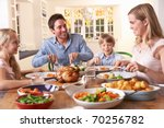 happy family having roast... | Shutterstock . vector #70256782