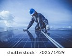 engineer or electrician... | Shutterstock . vector #702571429