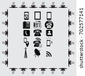 phone set icons vector... | Shutterstock .eps vector #702577141