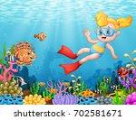 vector illustration of little... | Shutterstock .eps vector #702581671