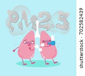 lung with air pollution concept ... | Shutterstock . vector #702582439
